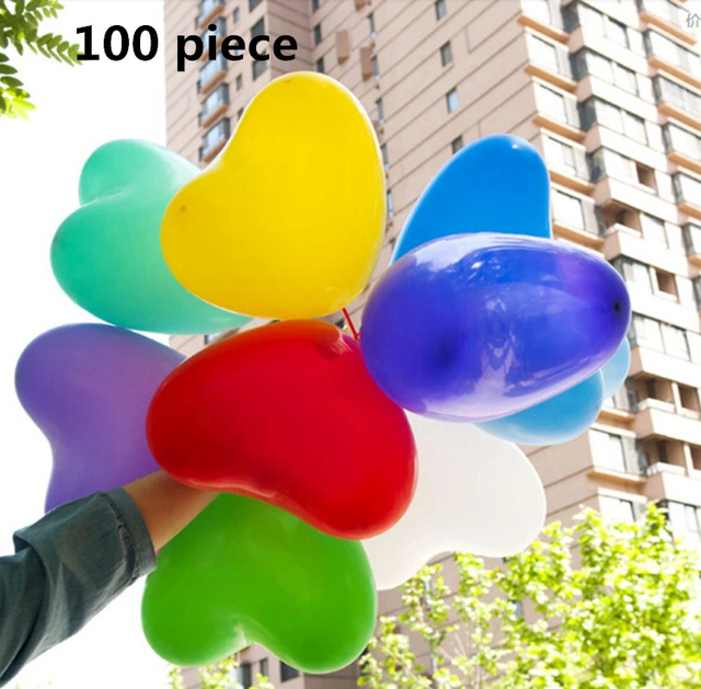 100pcs10 inch heart latex balloon air balls inflatable balloons wedding birthday party decoration floating toys