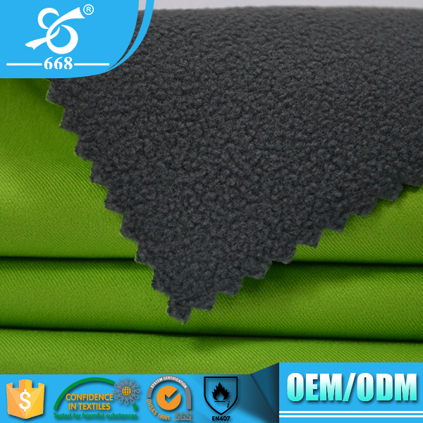 Fashional waterproof breathable fabric fleece bonded fabric warp knitting fabric