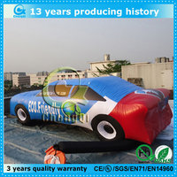 Customized promotion car cartoon inflatable car model