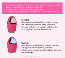 Electric LED Light facial cleanser brush OEM color for choice