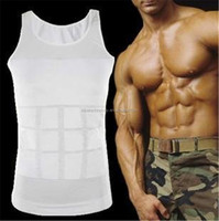 2015 Black White tight body shaper corset, mens compression shirt