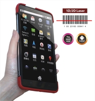 Android industrial barcode scanner tablet C7, wrist strap and protect case is supported