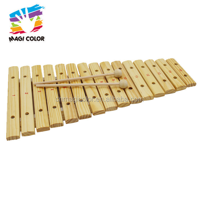 Wholesale high quality percussion wooden xylophone sticks toy for children W07C046
