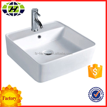 ceramic bathroom square counter top washhand basin