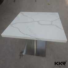 artificial marble dining table breakfast bar and stools set