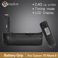 2015 New Mcoplus Vertical 2.4GHz Wireless Control BG-7D II Battery Grip for Canon 7D Mark II Replacement as BG-E16