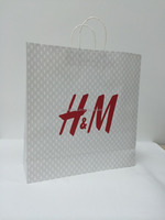 Handle gule clothes paper bag