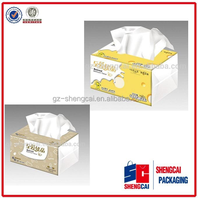 Creative tissue boxes with free offer / tissue box design made by Guangzhou Shengcai