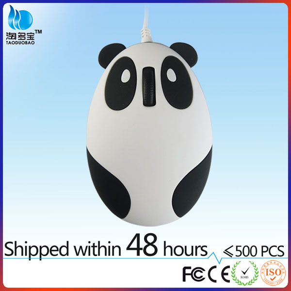 VMM-86 Factory hot sales wired panda shape drivers usb 3d mouse optical