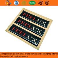 Custom Logo Epoxy Resin Label Sticker