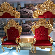 Special Design Concept Chair One Seater Baroque Collection Luxury Antique Console Table and Arm Chairs Set Classic Armchair