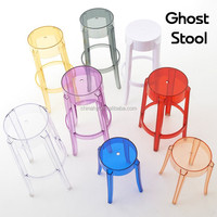 Fashion transparent yellow backless polycarbonate bar stools PC-103A3
