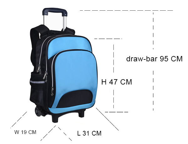 New design detachable kids trolley school bags