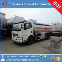 Customized good price DLK 10000 liter fuel oil tank truck sold in Latvia