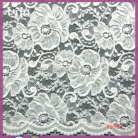 nylon lycra thick lace fabric scallop edge