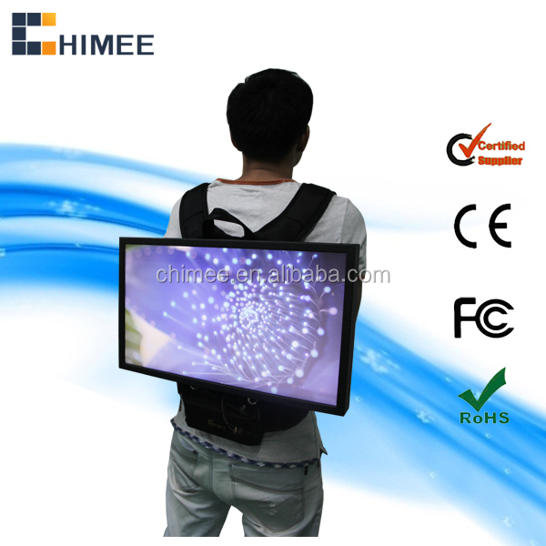 19inch widescreen lcd monitor portable backpack innovative electronic advertising product