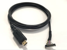Round coaxial HDMI CABLE TO I-PEX JAE LVDS CABLE