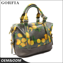 Tropical style new model purses and ladies 100% genuine leather fashion handbags 2018