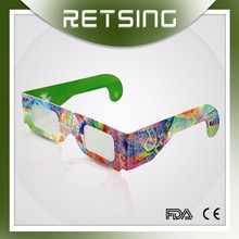 Custom paper frame Chromadepth 3D FIREWORKS Glasses wholesale