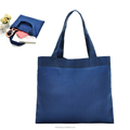 Daily use woman polyester hand bag/nylon book bag/simple design shopping tote bag