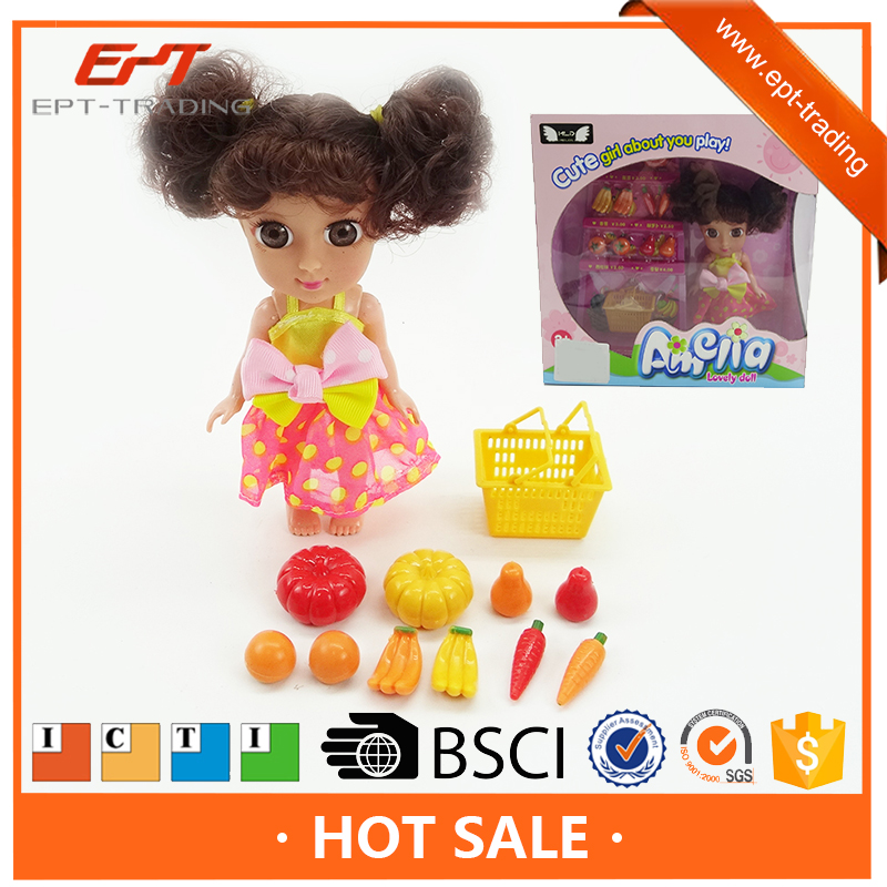 8 inch lovely shopping fruit girl dolls toys