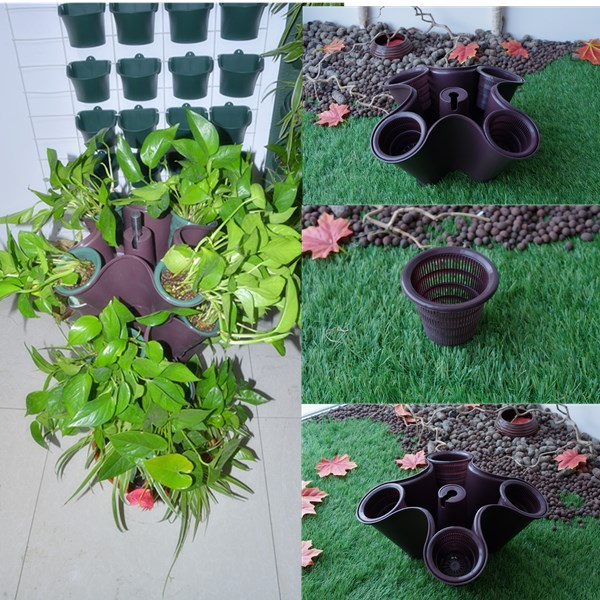 Wholesale Stackable/ Hanging Plastic Small Vegetables/ Flower Planter/Pot for Greenhouse