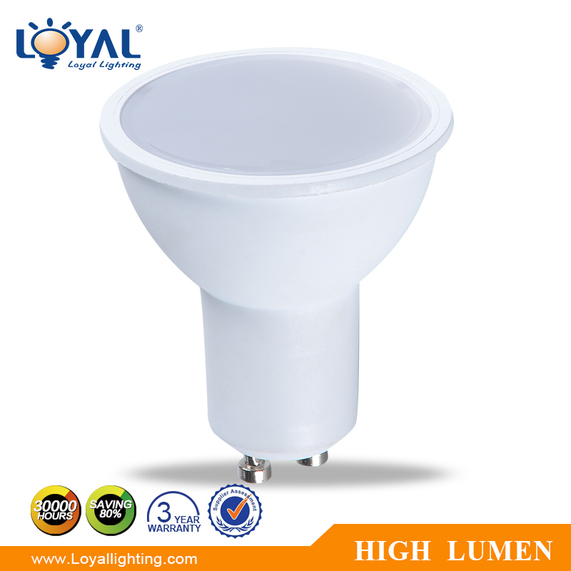 IP20 High lumen aluminum gu10 smd energy saving 5w led spotlight