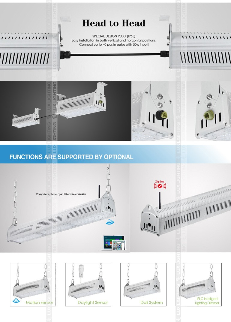 Shenzhen suppliers IP67 2016 new design high quality 100w warehouse led high bay light