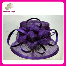 Women white church hats for party and wedding wholesale sinamay fascinator hats