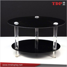 Manufacturer Black Round Lucite Coffee Tables, Acrylic Tables for Home