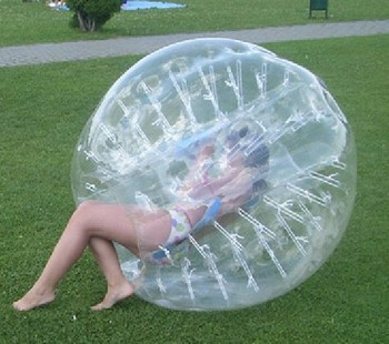 Popular kid inflatable toy ball good price PVC clear bubble ball