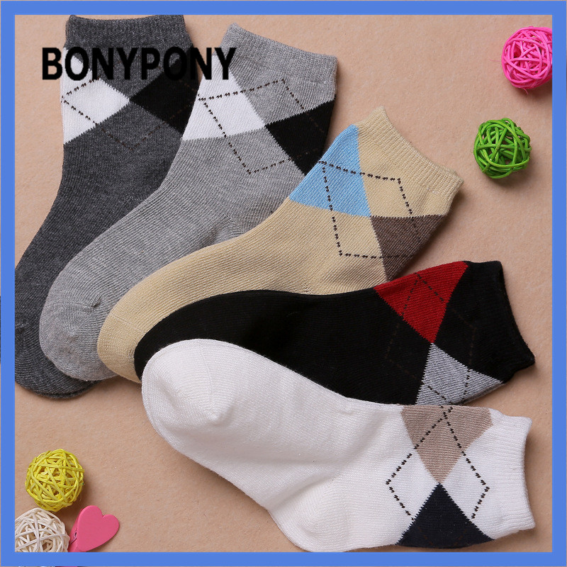BONYPONY 5pairs/lot 1-12 Years old england style hot sale high quality kid tube children cotton socks for boy