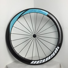 China Taiwan full cheap carbon fiber road bicycle wheels 50mm deep 25mm wide clincher carbon wheelset with pillar 1432 spoke