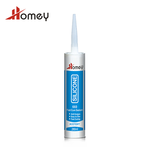Homey 660 acetoxy cure anti fungus colored silicone free sealant