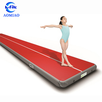 PVC good quality inflatable track slip tumble track inflatable air mat for gymnastics