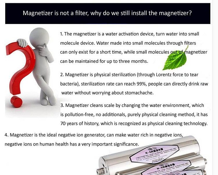 magnetic ro CB ionizer machine Ndfeb magnetizer pitcher alkaline permanent magnet GS UL water filter jug