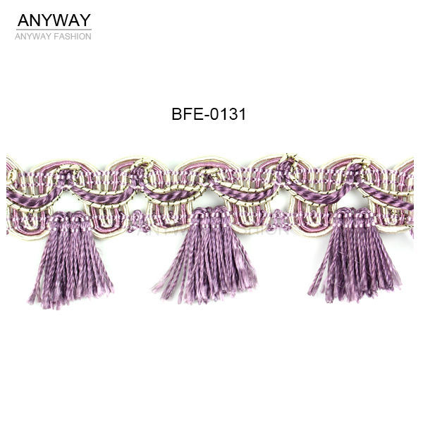 Decorative edging tassels fringe for curtain