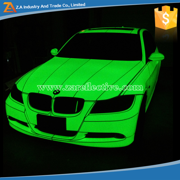 2016 New Arrival Products Photoluminescent Film, Car Body Wrapping Glow In The Dark Car Sticker
