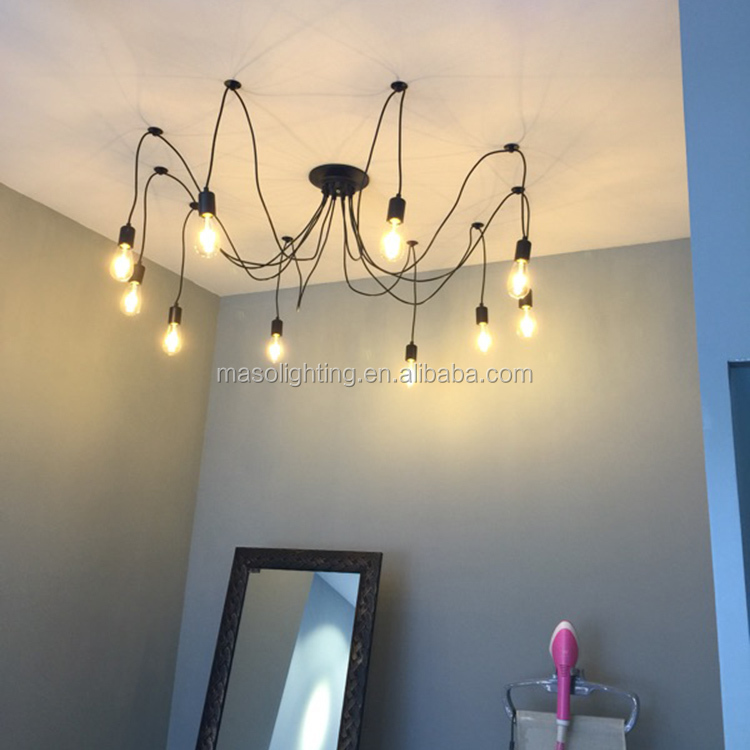 DIY retro celling light for home dinning room e27 led light bulb led suspended lamp fixtures in china