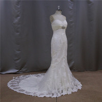New wedding kebaya sexy opulent brush train lace wedding dress with lace top 2012