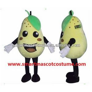 plush pear fruit costume mascot pear costume for adult 4.5'-6.4'