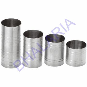Stainless Steel Thimble Measure 25ml, 20 / 40, 25 / 50, 35 / 50ml