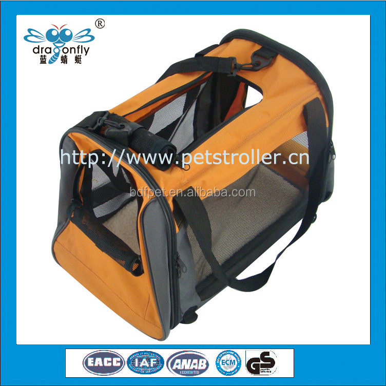 Factory Soft Sided Folding Kennel Car Travel Pet Dog Bag Carrier