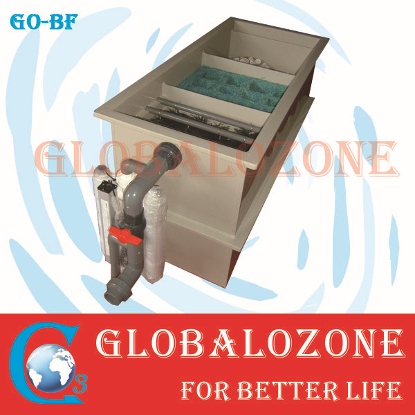 biological water filter for fishing farm / ozone oxygen for aquaculture /drum filter protein skimmer