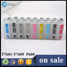 Printer ink cartridge for Epson P600 refill ink cartridge with T7601 - T7609 ARC chip