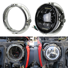 "OVOVS 7"" round led headlight bracket ring for Har-ley motorcycle in auto lighting system"
