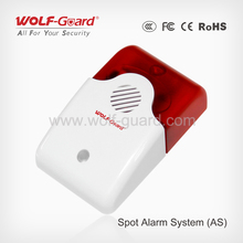 2016 new wireless Outside sound siren LED flash alarm system with magnetic gap sensor (YL-007AS)