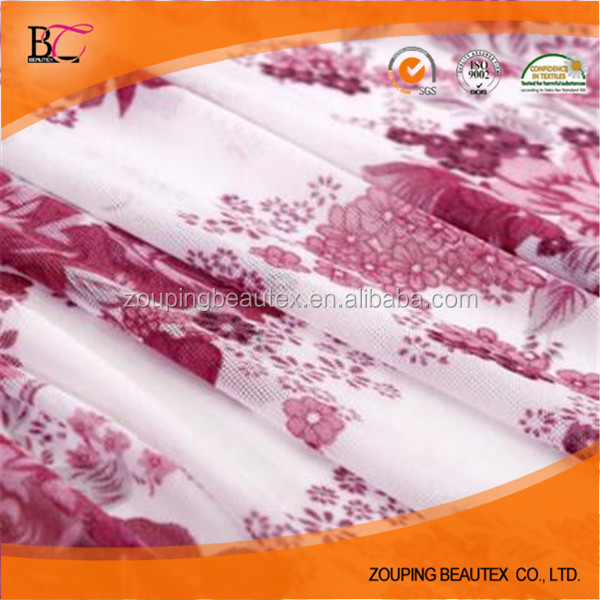 Hot Sale 95% polyester 5% spandex printed mesh fabric fabric for chair cushion lining