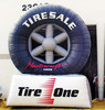 Customized advertising inflatable tire/inflatable model for sale