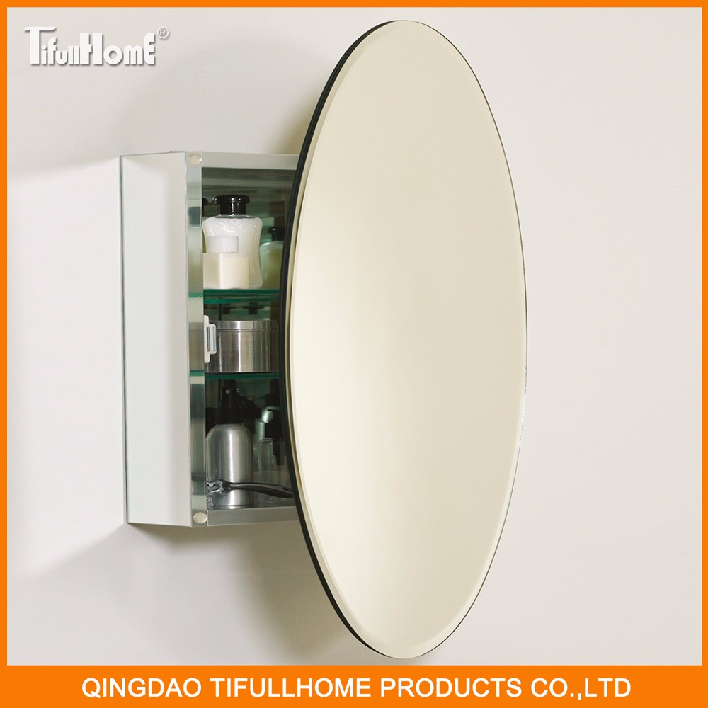 Popular style oval shape waterproof bathroom mirror cabinet buy mirror cabinet popular style Oval bathroom mirror cabinet